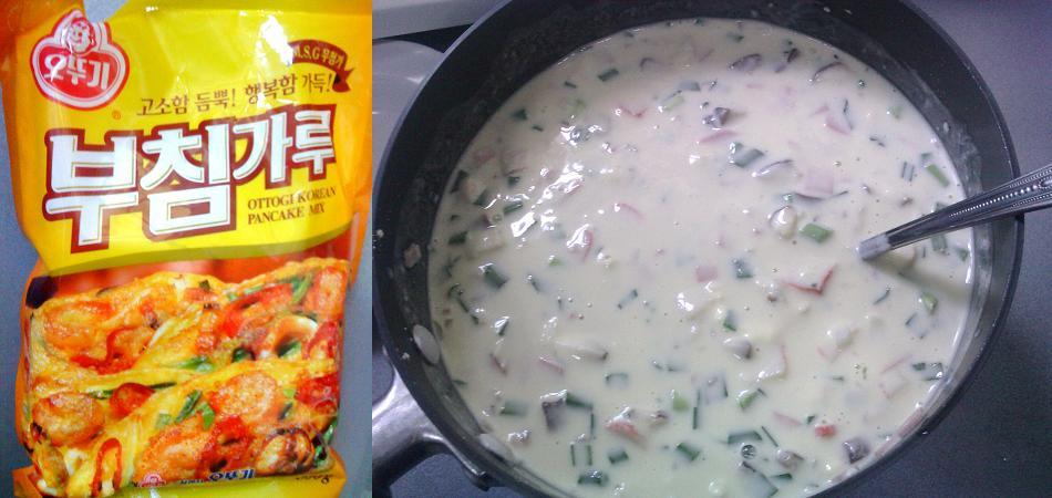 how to make korean pancake with mix