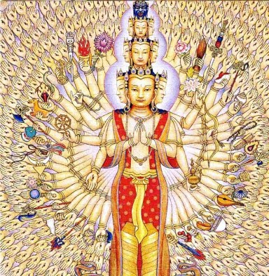Image result for kuan yin thousand arms